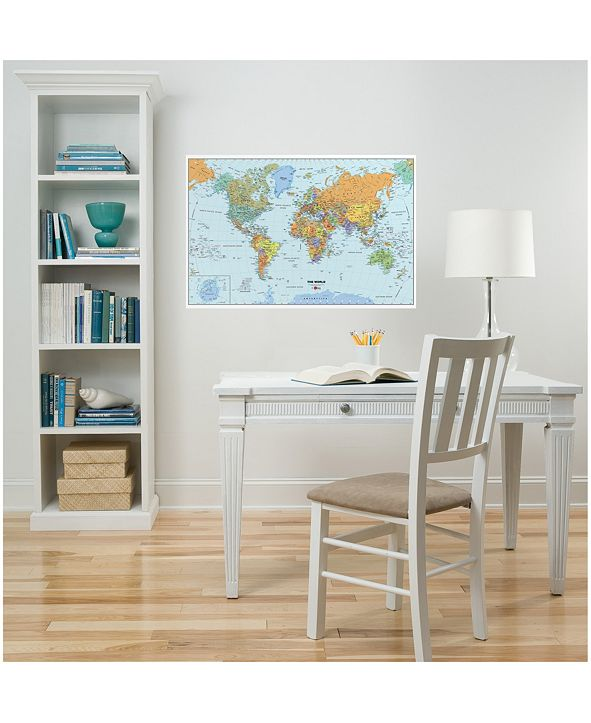 Brewster Home Fashions World Dry Erase Map