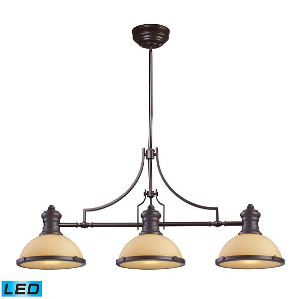 ELK Lighting Chadwick 3-Light Island Light in Oiled Bronze - LED, 800 Lumens (2400 Lumens Total) with Full Scale Dimming Range