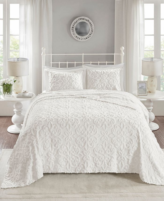 Madison Park - Sabrina 3-Pc King/Cal King Cotton Chenille Bedspread Set