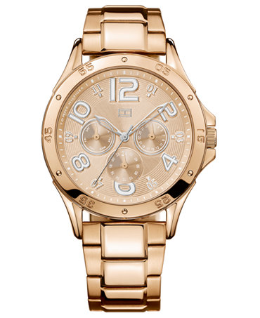 tommy hilfiger watch women 39 s chronograph rose gold tone. Black Bedroom Furniture Sets. Home Design Ideas
