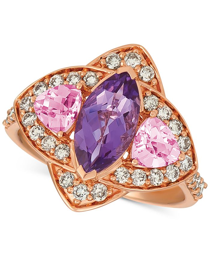 Le Vian - Multi-Gemstone (1-9/10 ct. t.w.) & Nude™ Diamond (5/8 ct. t.w.) Ring in 14k Rose Gold