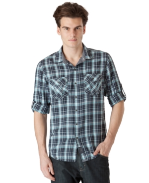 Calvin Klein Jeans Shirt, Typography Plaid