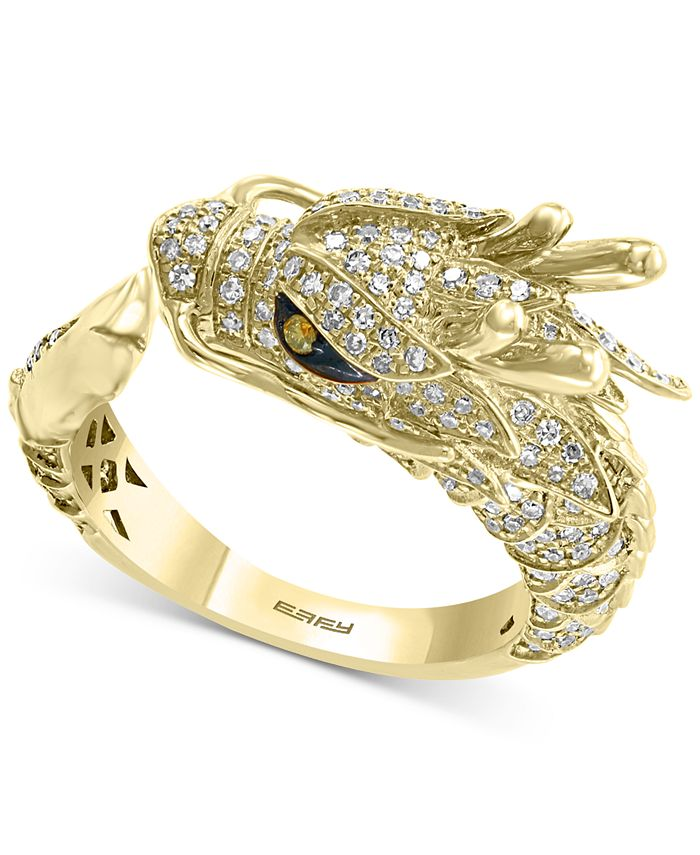 EFFY Collection - Diamond Dragon Ring (3/4 ct. t.w.) in 14k Gold