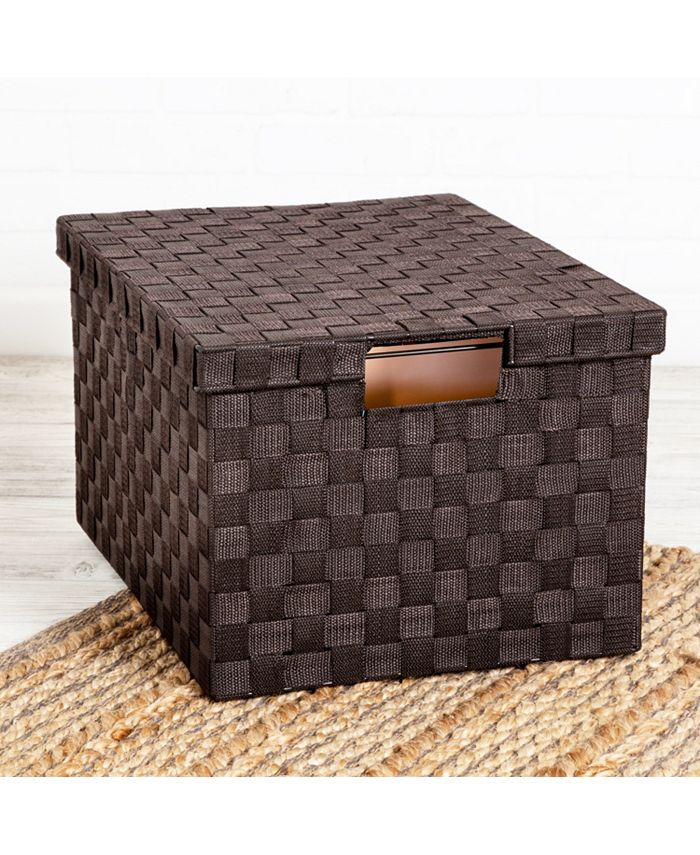 Honey Can Do - Large Woven File Box