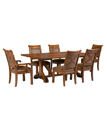 Piece Set Table 4 Side Chairs And 2 Arm Chairs Furniture Macy 39 S