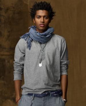 Denim & Supply Ralph Lauren Shirt, Long Sleeve Henley