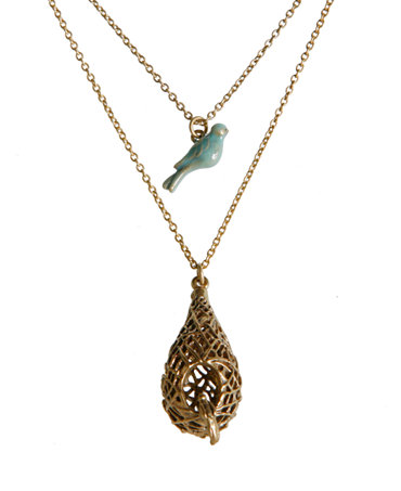 Lucky brand necklace bird and nest pendant jewelry for Macy s lucky brand jewelry