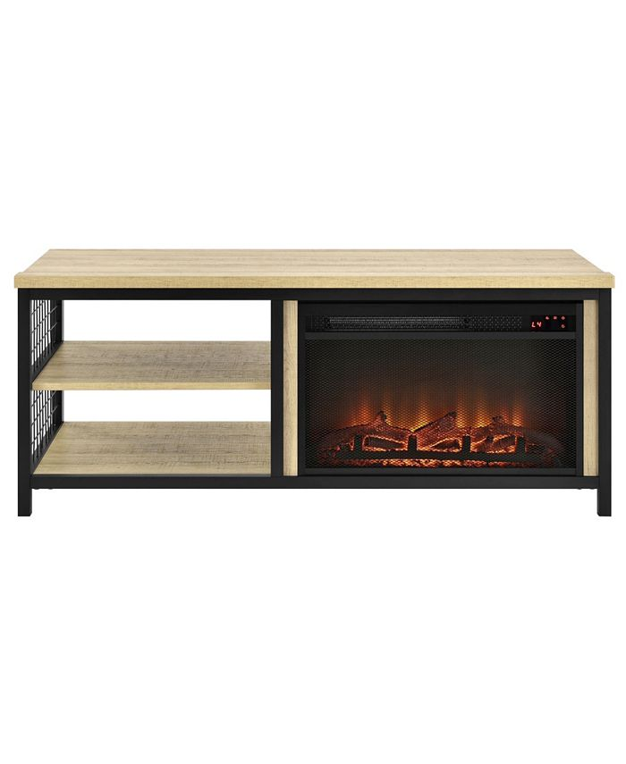 Ameriwood Home - Lone Oak Fireplace TV Stand for TVs up to 55 inches