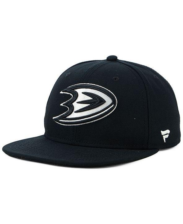 Authentic NHL Headwear NHL Authentic Headwear Anaheim Ducks Black DUB Fitted Cap