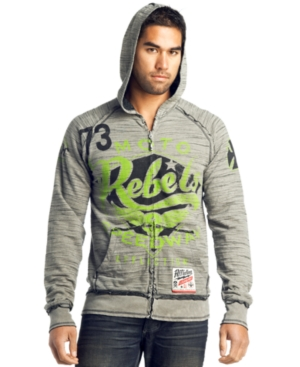 Affliction Sweatshirt, Moto Reversible Zip Hoodie