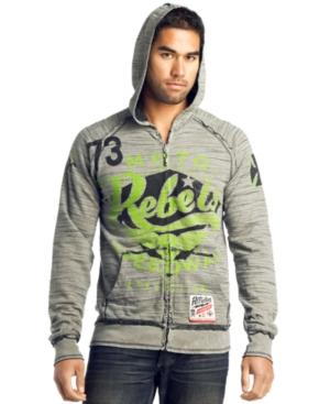 Affliction Sweatshirt, Moto Reversible Zip Hoodie
