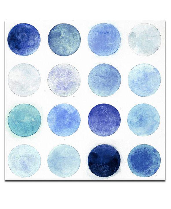 """Ready2HangArt 'Blue Lunar II' Abstract Canvas Wall Art, 20x20"""""""