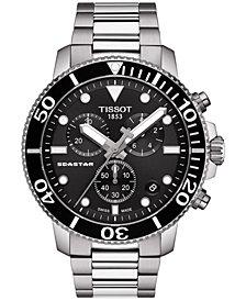 Tissot Men's Swiss Chronograph Seastar 1000 Stainless Steel Bracelet Diver Watch 45.5mm