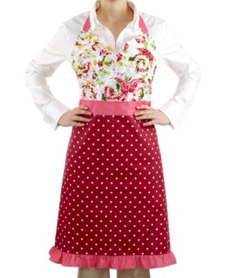 Homewear Apron, Ruched Rose