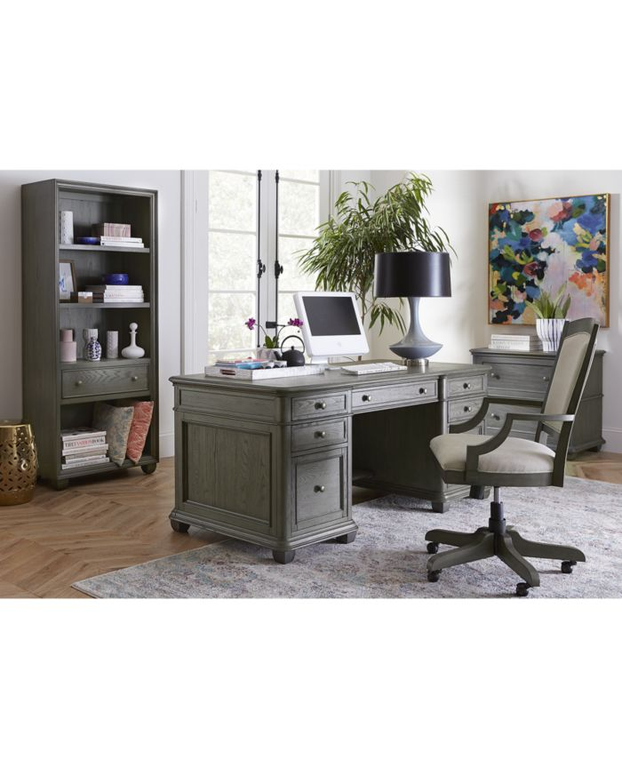 Furniture Sloane Home Office Executive Desk & Reviews - Furniture - Macy's