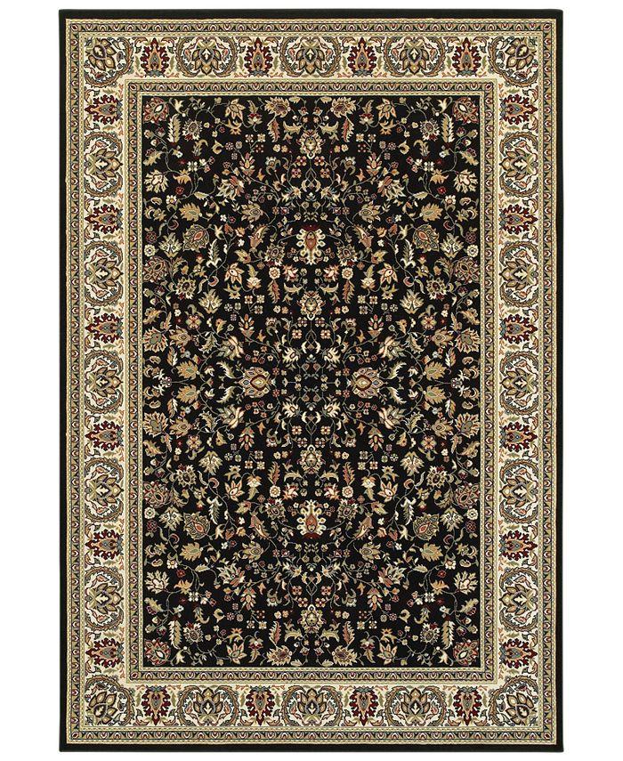 "Oriental Weavers - Kashan 108B Black/Ivory 6'7"" x 9'6"" Area Rug"