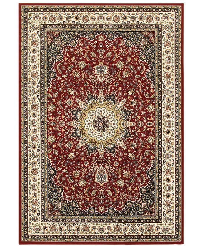 """Oriental Weavers - Kashan 119N Red/Ivory 3'10"""" x 5'5"""" Area Rug"""