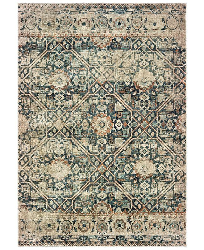 "Oriental Weavers Raleigh 4925L Blue/Ivory 6'7"" x 9'6"" Area Rug"