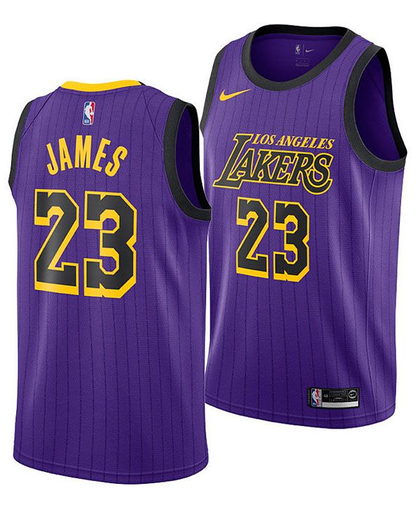 Nike Men's LeBron James Los Angeles Lakers City Swingman Jersey 2018