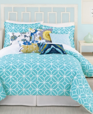 Trina Turk Bedding, Trellis Turquoise King Comforter Set Bedding