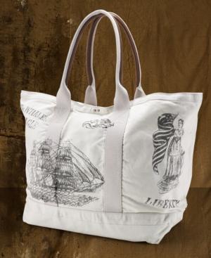 Denim & Supply Ralph Lauren Handbag, Nautical Cotton & Leather Tote