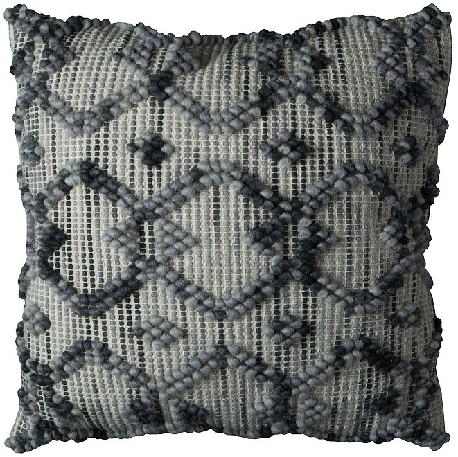 "Rizzy Home 20"" x 20"" Diamond Pattern Pillow Cover"
