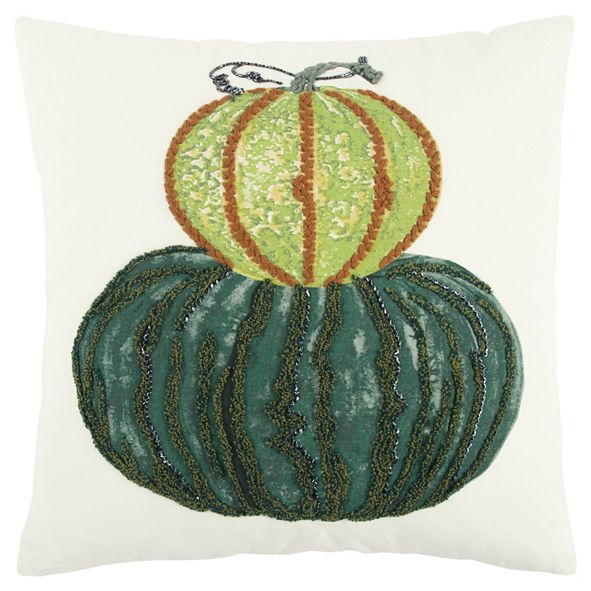 "Rizzy Home 20"" x 20"" Pumpkin Pillow Cover"