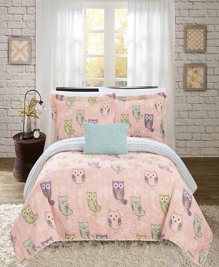 Chic Home - Owl Farm 4-Pc. Quilt Sets
