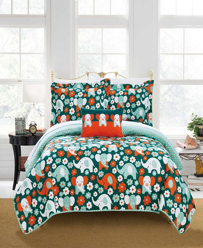 Chic Home - Elephant Marsh 4-Pc. Quilt Sets