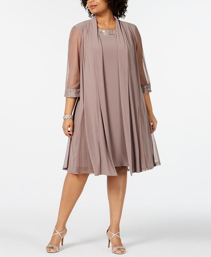R M Richards Plus Size Embellished Dress Jacket Set Reviews Dresses Women Macy S