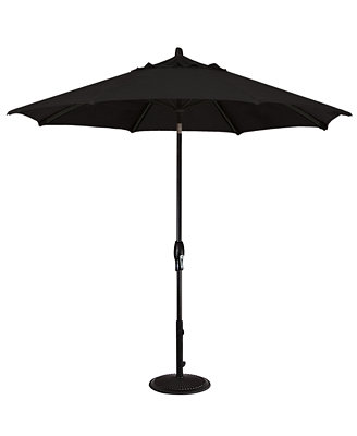 patio umbrella outdoor black 9 auto tilt furniture