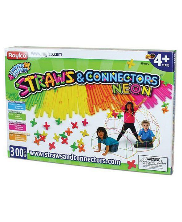Roylco Straws and Connectors Neon - 300 Piece Set
