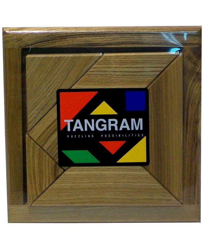 Square Root Tangram Brain Teaser Puzzle