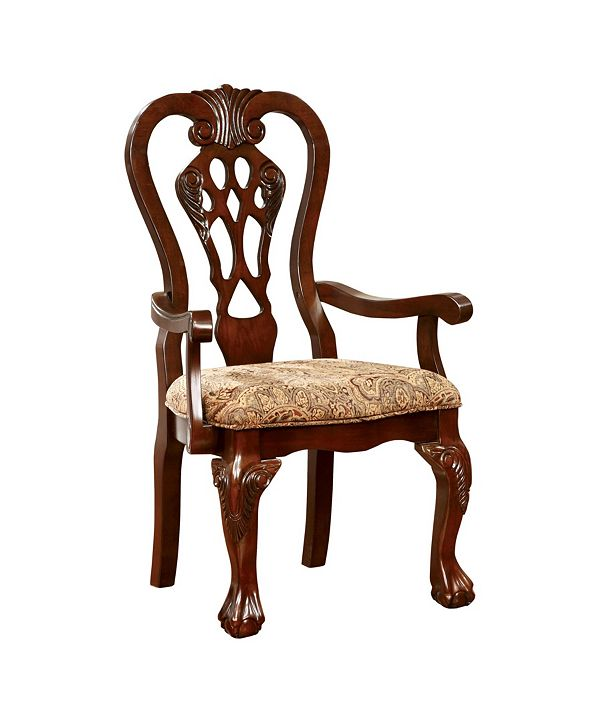 Furniture of America Wilson Brown Cherry Armchair (Set of 2)