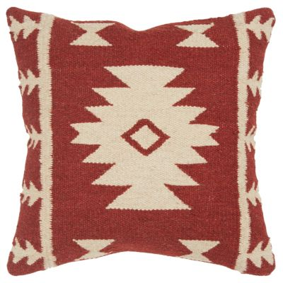 """18"""" x 18"""" Stripes with Motif Accents Down Filled Pillow"""
