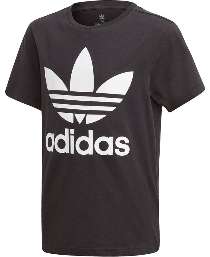 adidas - Big Boys Logo-Print Cotton T-Shirt