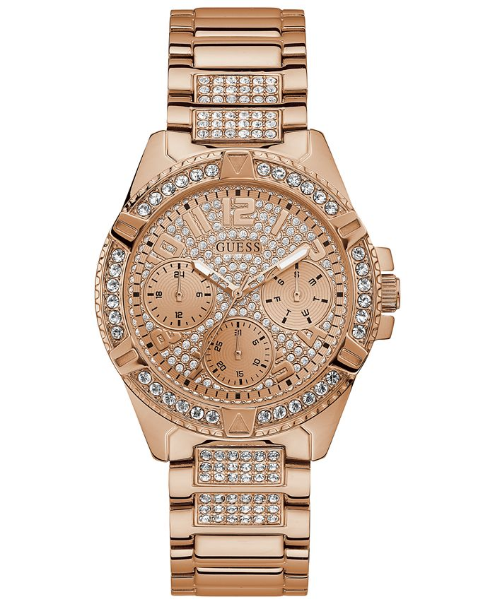 GUESS - Women's Rose Gold-Tone Stainless Steel Bracelet Watch 40mm