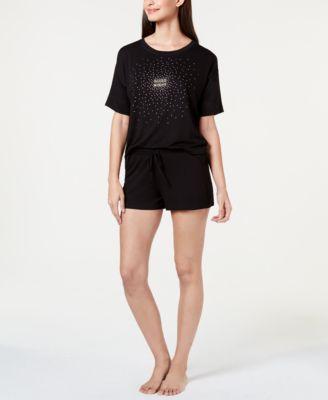 Ultra Soft Core Printed Short Sleeve Pajama Shirt, Created for Macy's