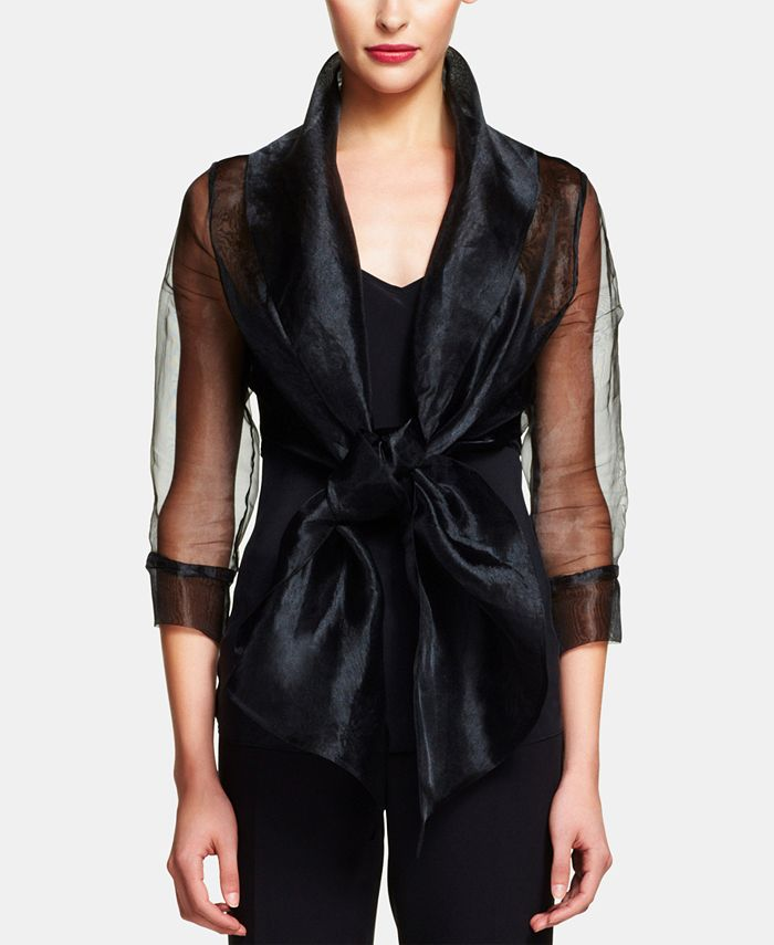 Adrianna Papell - Organza Wrap Jacket