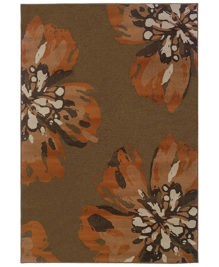 """Oriental Weavers - Adrienne 4130C Brown/Orange 7'10"""" x 10'10"""" Area Rug"""