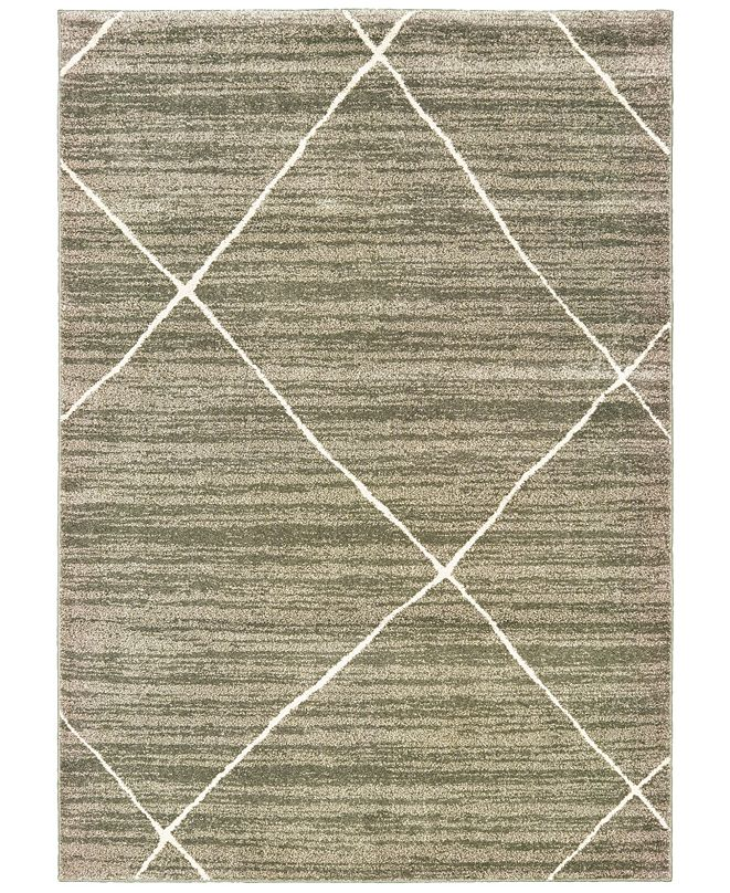"Oriental Weavers Carson 9661A Gray/Ivory 5'3"" x 7'3"" Area Rug"