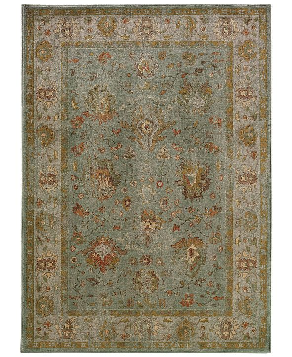 "Oriental Weavers CLOSEOUT!  Casablanca 4446C Blue/Ash 5'3"" x 7'6"" Area Rug"