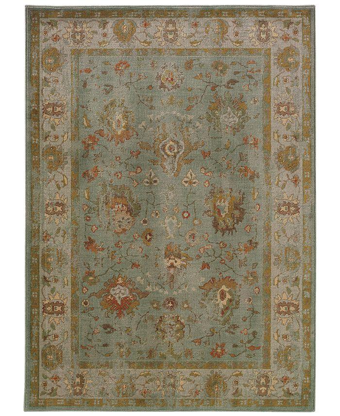 """Oriental Weavers - Casablanca 4446C Blue/Ash 1'10"""" x 3'3"""" Area Rug"""
