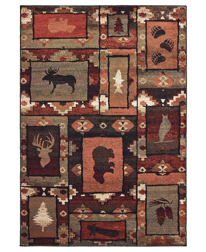 """Oriental Weavers Woodlands 9601D Brown/Rust 5'3"""" x 7'3"""" Area Rug"""