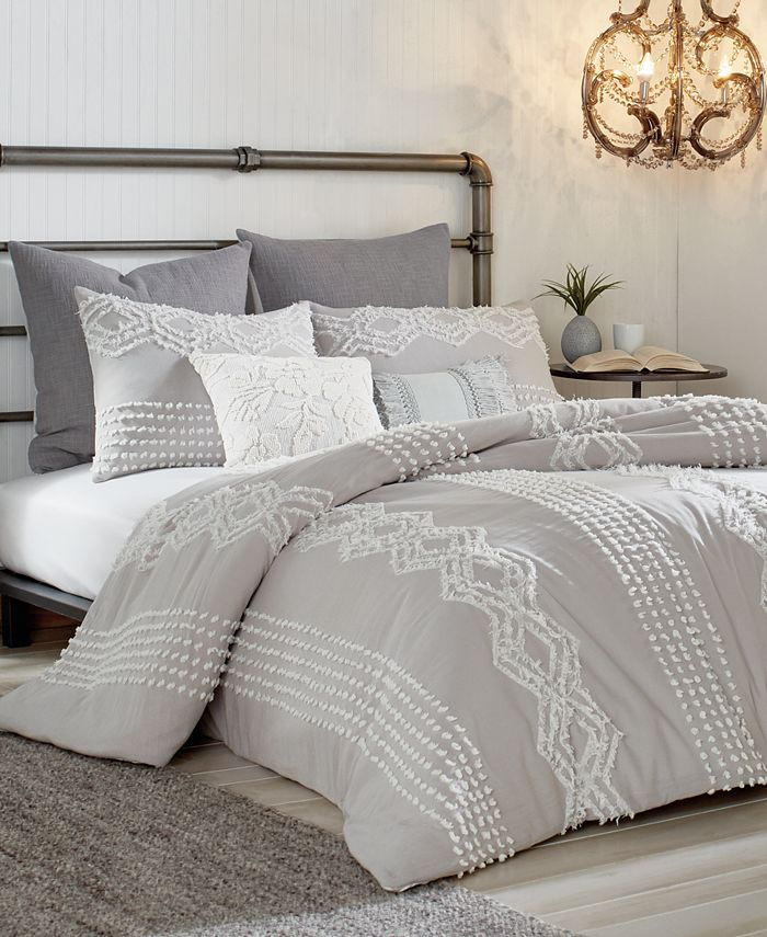 Peri Home - Cut Geo Cotton King Duvet Cover