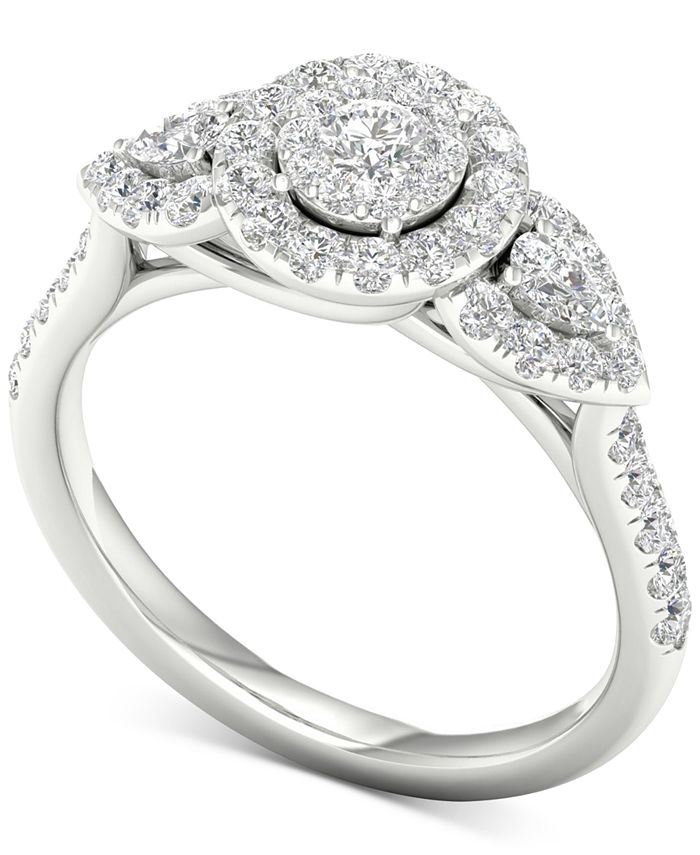 Macy's - Diamond (7/8 ct. t.w.) Engagement Ring in 14k White Gold