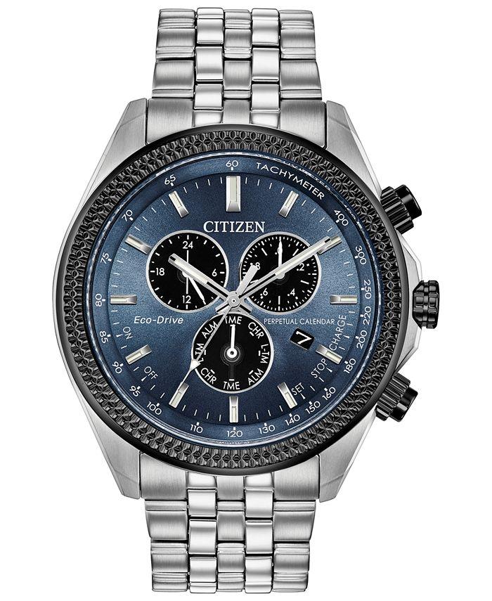 Citizen - Men's Chronograph Brycen Stainless Steel Bracelet Watch 44mm