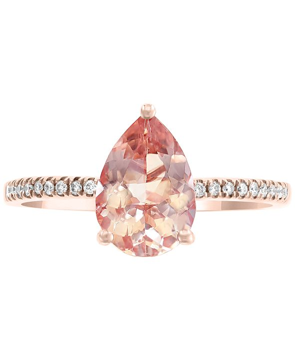 EFFY Collection EFFY® Morganite (1-1/2 ct. t.w.) & Diamond Accent Ring in 14k Rose Gold