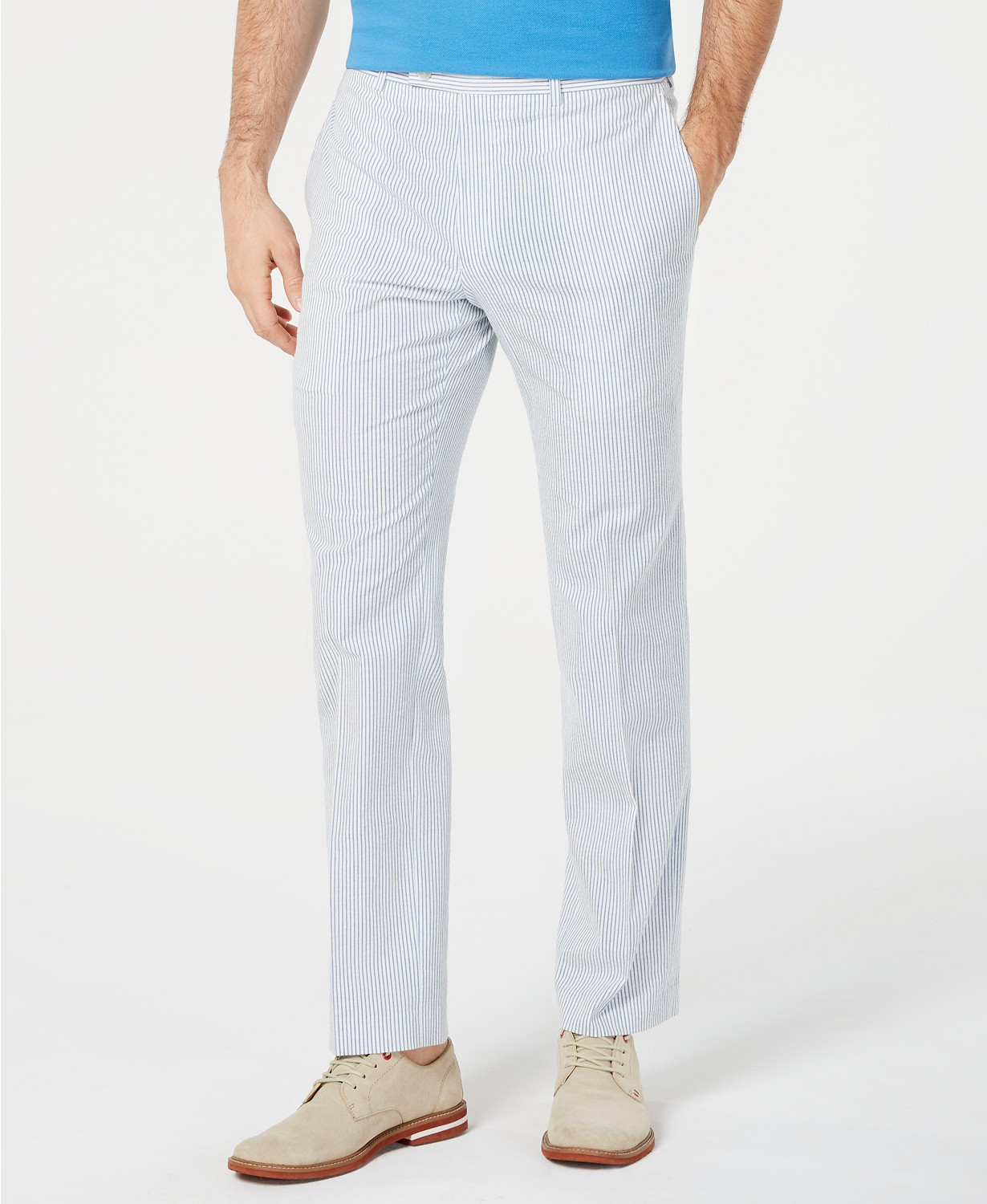 Lauren Ralph Men's Classic-Fit Seersucker Dress Pants