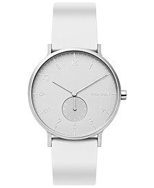 Skagen Aaren Kulor Aluminum Silicone Strap Watch 41mm Created for Macy's